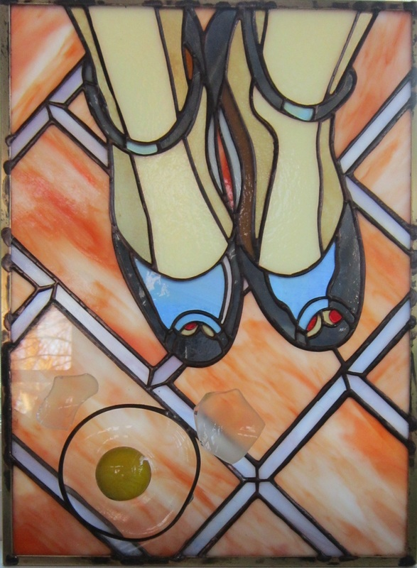 stained glass shoes egg