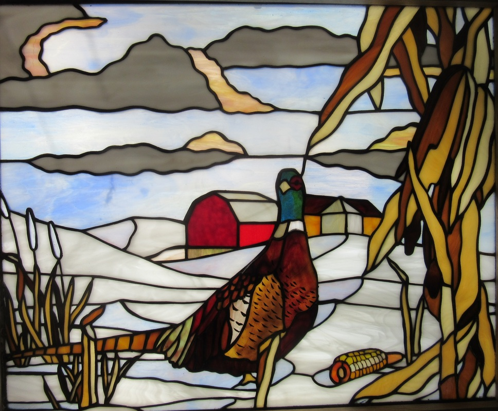 Spectrum Stained Glass Pheasant