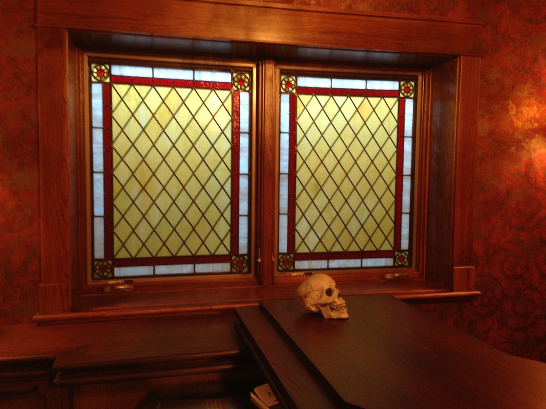 stained glass window shades