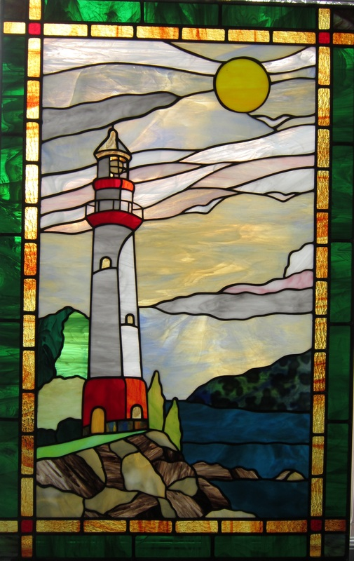 lighthouse by  spectrum stained glass