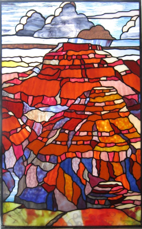 Stained Glass Rocky Mountain National Park original by Tom Nelson