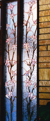 Magnolia stained glass room dividers