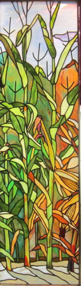 stained glass corn field
