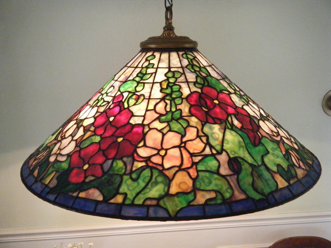 Tiffany Design Hollyhock Hanging Lamp